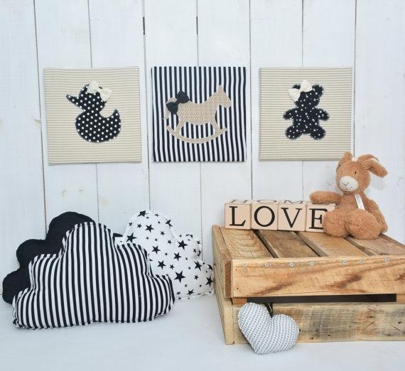 Featured Photo of Nursery Fabric Wall Art