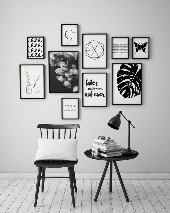 Black And White Framed Prints New Best 25 Wall Art Ideas On With Black And White Framed Art Prints (Image 3 of 15)