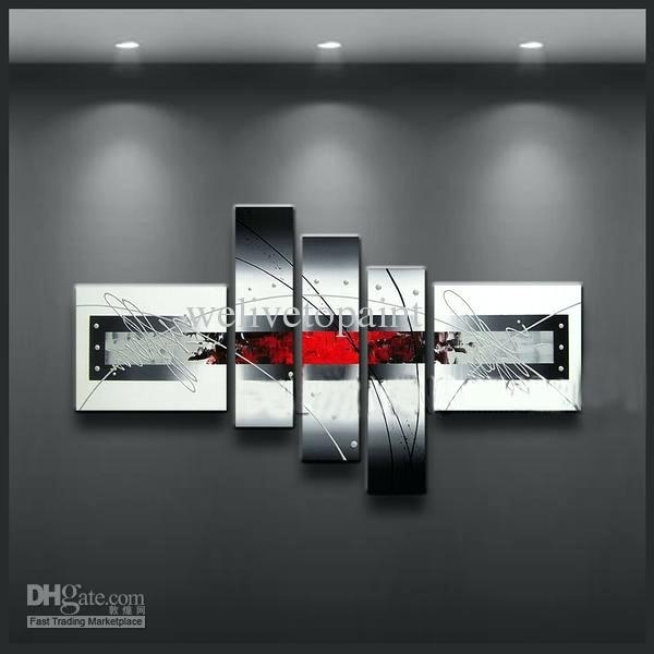 Black And White Wall Art With Red Red Black White Canvas Wall Art With Black And White Canvas Wall Art (View 15 of 15)