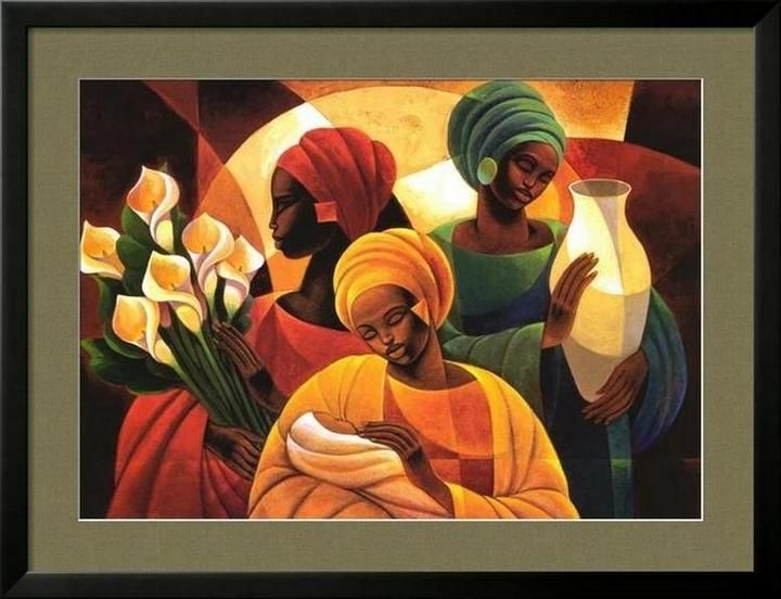 Black Family Art Prints | Roll Your Mouse Over Framed Print To See Within Framed African American Art Prints (Image 9 of 15)