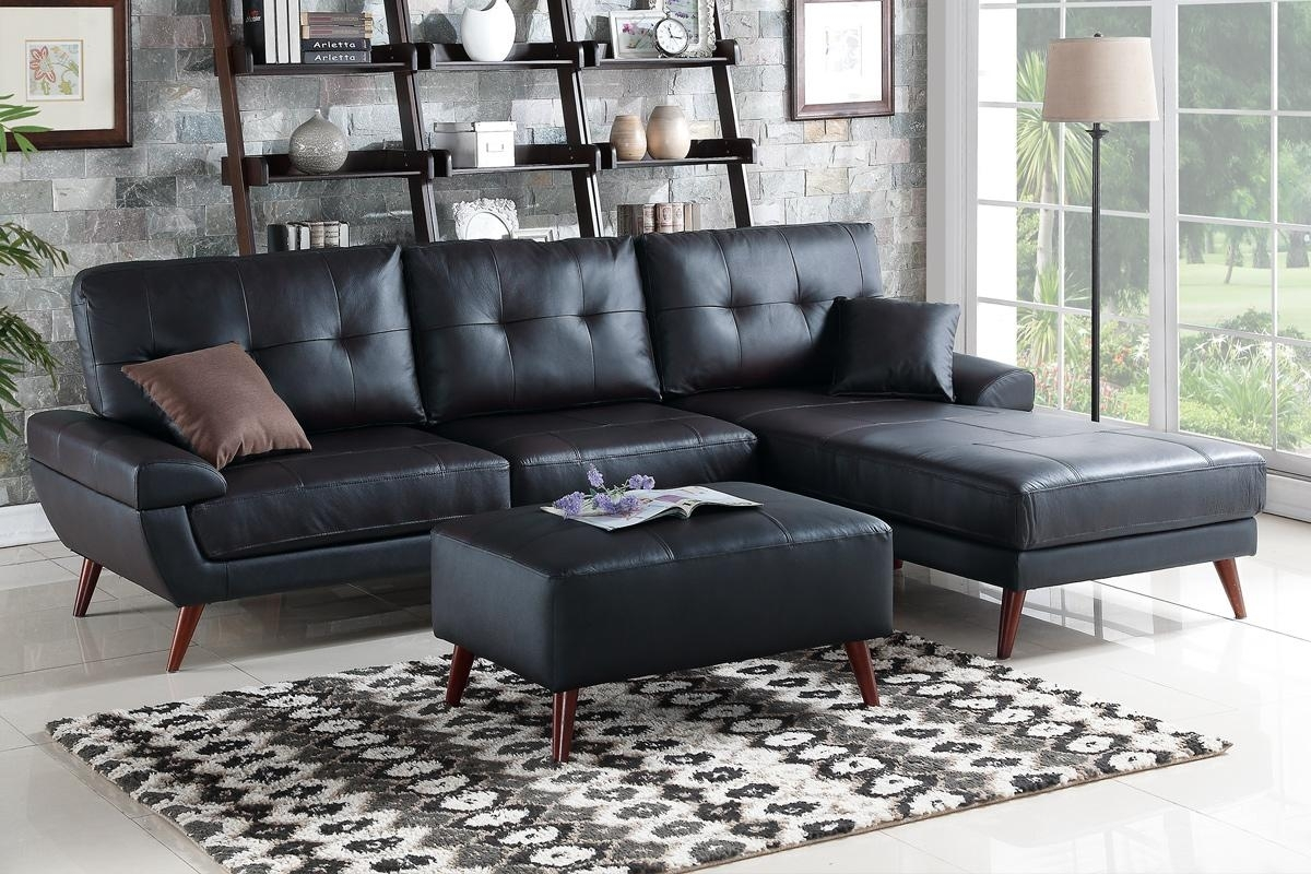 Black Leather Sectional Sofa – Steal A Sofa Furniture Outlet Los Inside Los Angeles Sectional Sofas (View 7 of 10)