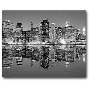 "Black & White Cityscape 16"" X 20"" Canvas Wall Art – Home – New Intended For Black And White Canvas Wall Art (View 5 of 15)"