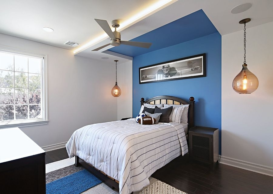 Blue Accent Wall Bedroom Ideas – Newhomesandrews Pertaining To Blue Wall Accents (View 8 of 15)
