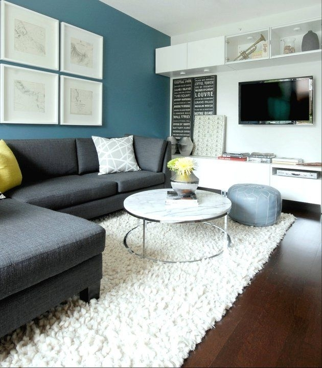 Blue Accent Walls Ideas On On Articles With Dark Blue Accent Wall Pertaining To Wall Accents For Grey Room (View 7 of 15)