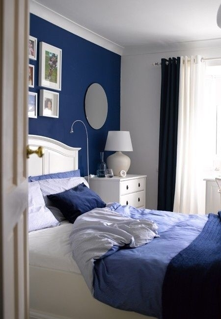 Blue And Turquoise Accents In Bedroom Designs – 39 Stylish Ideas With Wall Accents For Blue Room (Image 5 of 15)