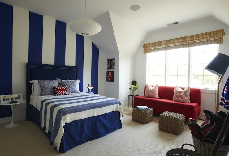 Blue Boy Bedroom White Vertical Striped Accent Wall – Dma Homes | #337 Pertaining To Vertical Stripes Wall Accents (View 9 of 15)