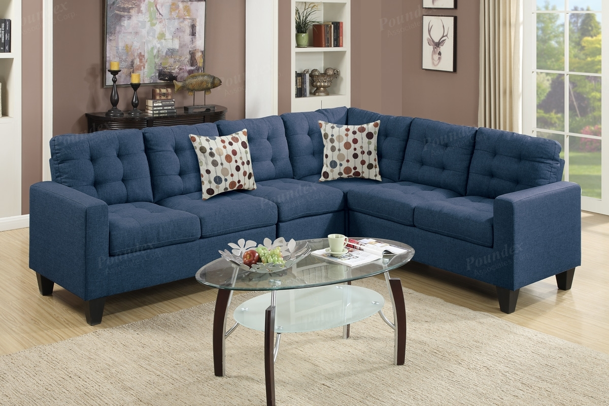 Blue Fabric Sectional Sofa – Steal A Sofa Furniture Outlet Los Regarding Los Angeles Sectional Sofas (View 4 of 10)
