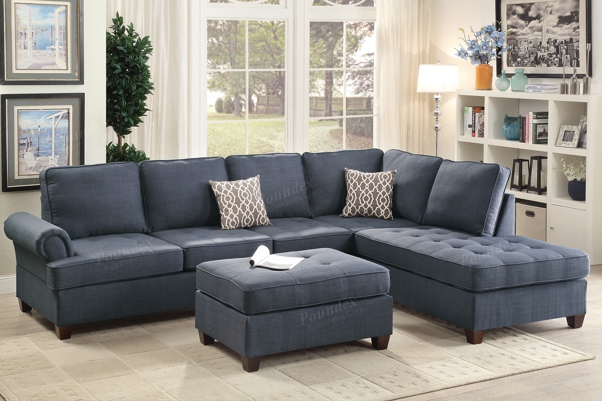 Blue Fabric Sectional Sofa – Steal A Sofa Furniture Outlet Los Throughout Fabric Sectional Sofas (View 6 of 10)