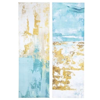 Blue & Gold Abstract Canvas Wall Decor | Hobby Lobby | 1470384 Inside Hobby Lobby Abstract Wall Art (Image 5 of 15)