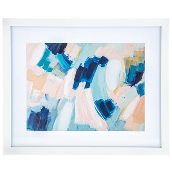 Blue, Pink & White Abstract Framed Wall Decor | Hobby Lobby | 1465574 Inside Hobby Lobby Abstract Wall Art (Image 7 of 15)