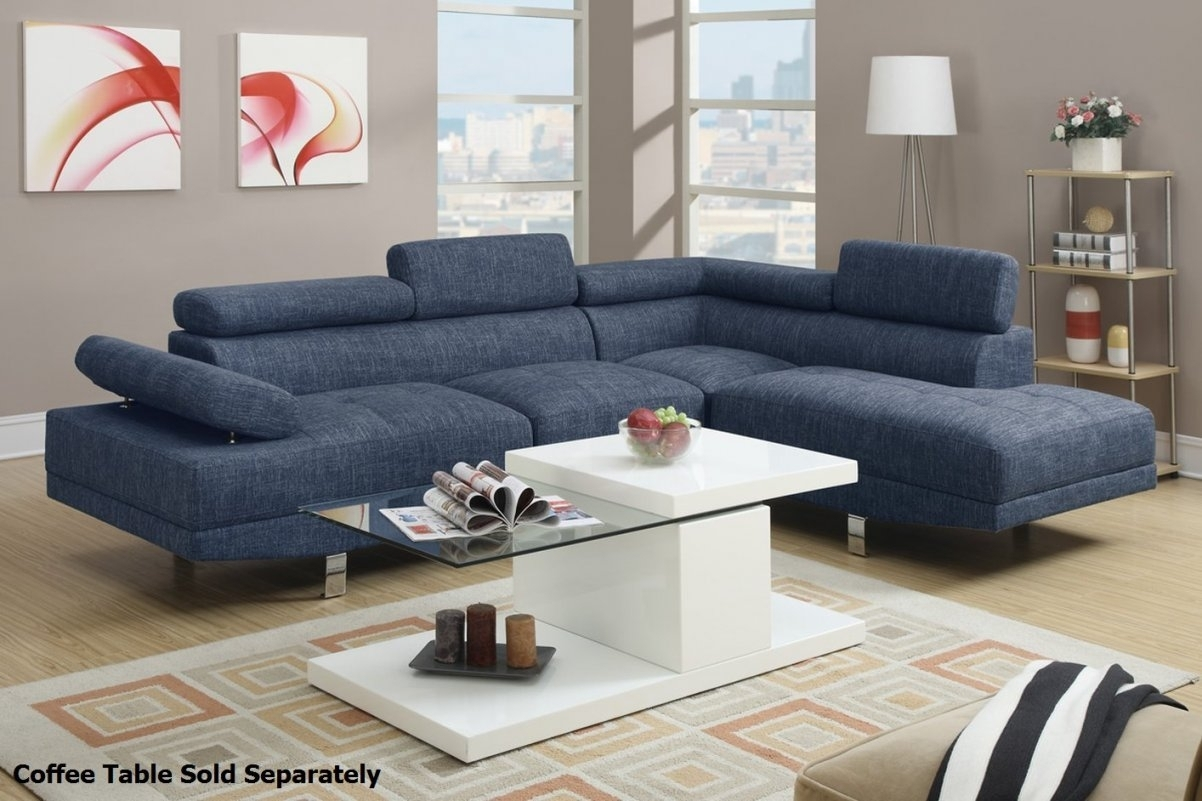 Blue Sectional Sofa Suitable With Blue Velvet Sectional Sofa In Inside Blue Sectional Sofas (Image 4 of 10)