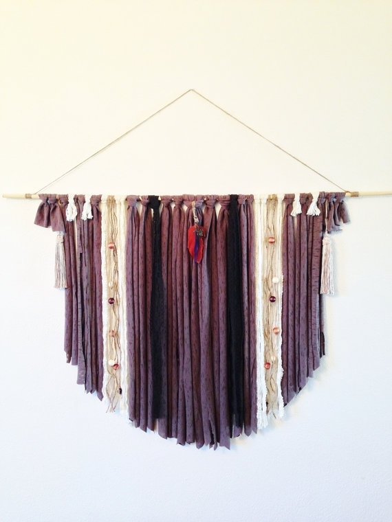 Boho Wall Art / Boho Dream Catcher / Fabric Wall Art / Gypsy Dream Within Dreamcatcher Fabric Wall Art (Image 5 of 15)