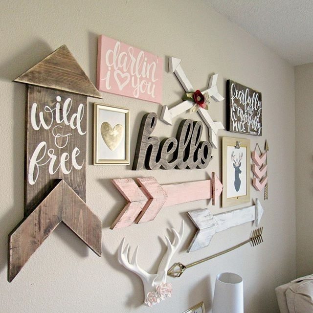 Boho Woodland Baby Girl Nursery | Hailey's Nursery | Pinterest In Girl Nursery Wall Accents (View 2 of 15)