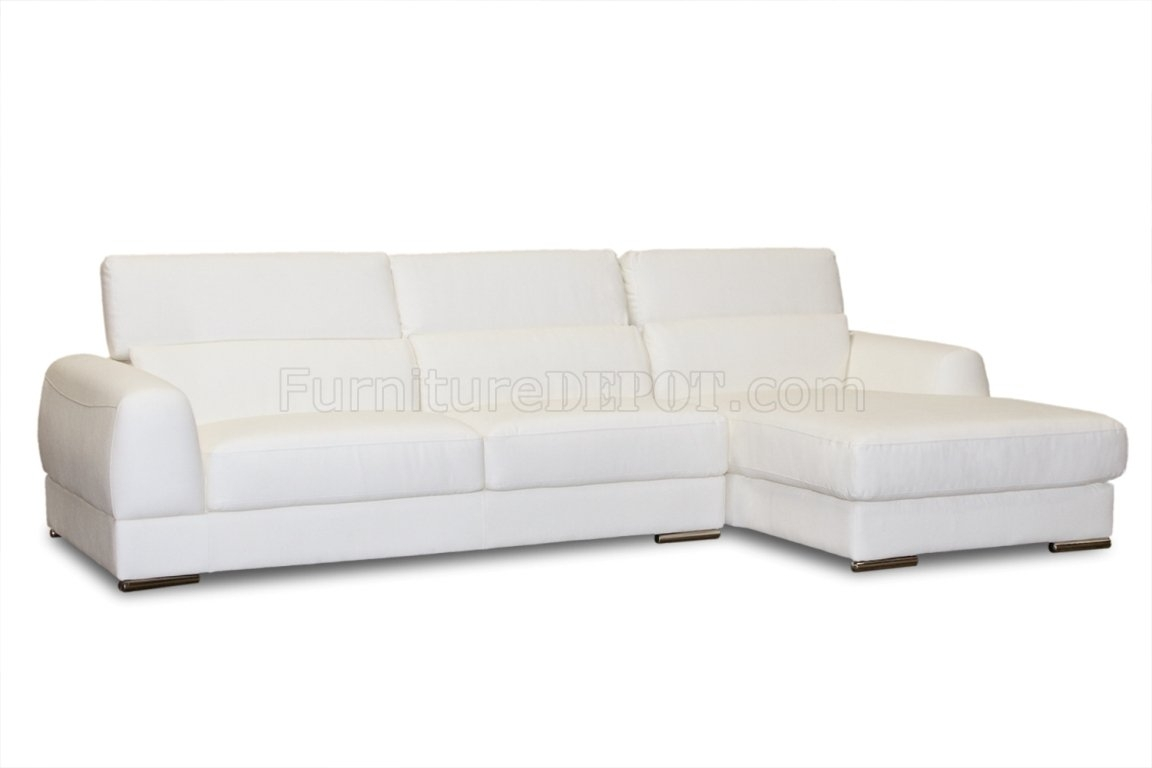 Bonded Leather Modern Chicago Sectional Sofa Within Sectional Sofas At Chicago (View 10 of 10)