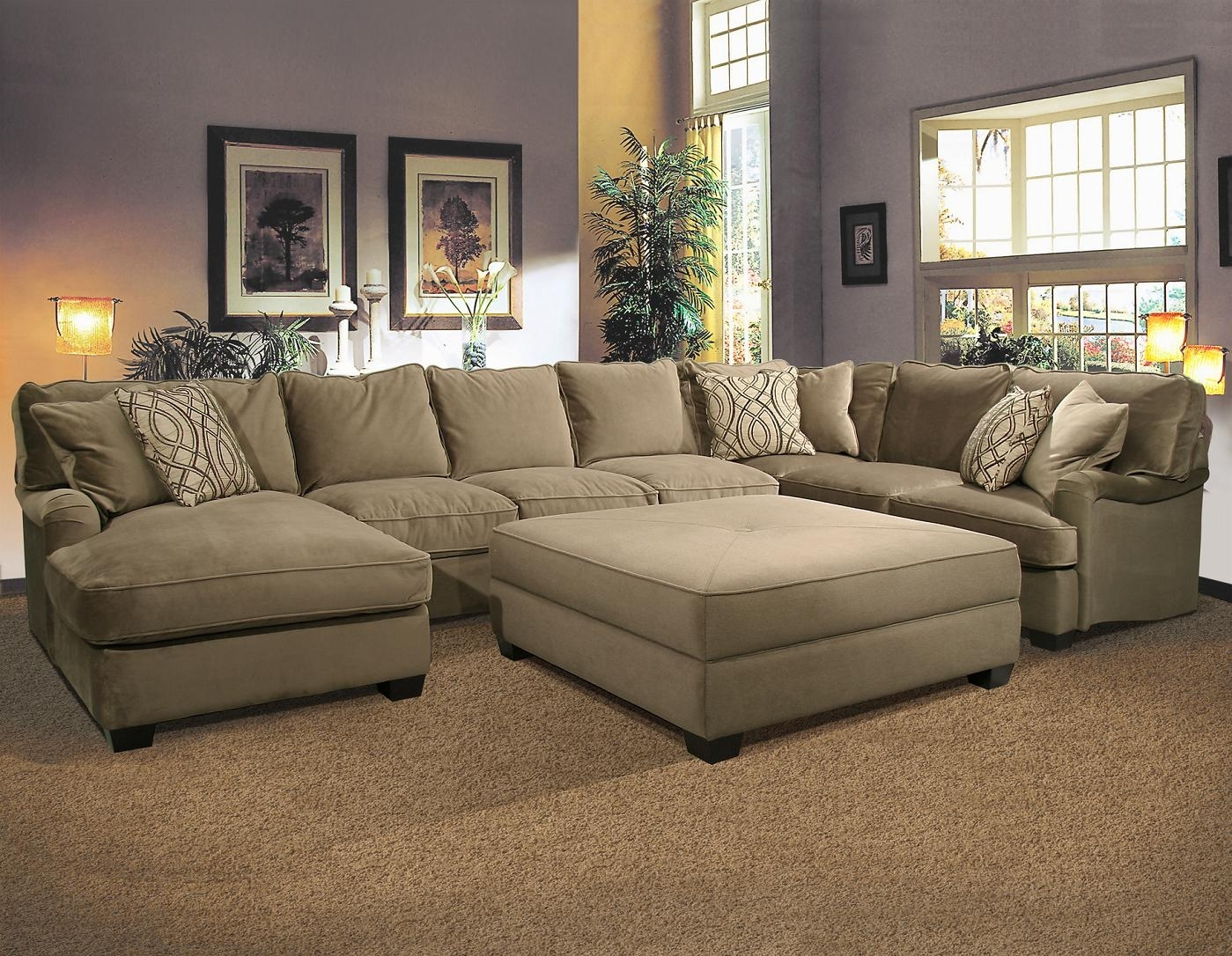 Bostonian Sectional Sofafairmont Seating | Home | Pinterest Inside Sofas With Large Ottoman (Image 1 of 10)