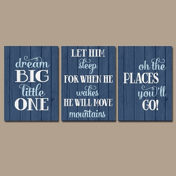 Boy Quote Wall Art Canvas Or Prints Boy Nursery Quote Throughout Large Canvas Wall Art Quotes (View 2 of 15)