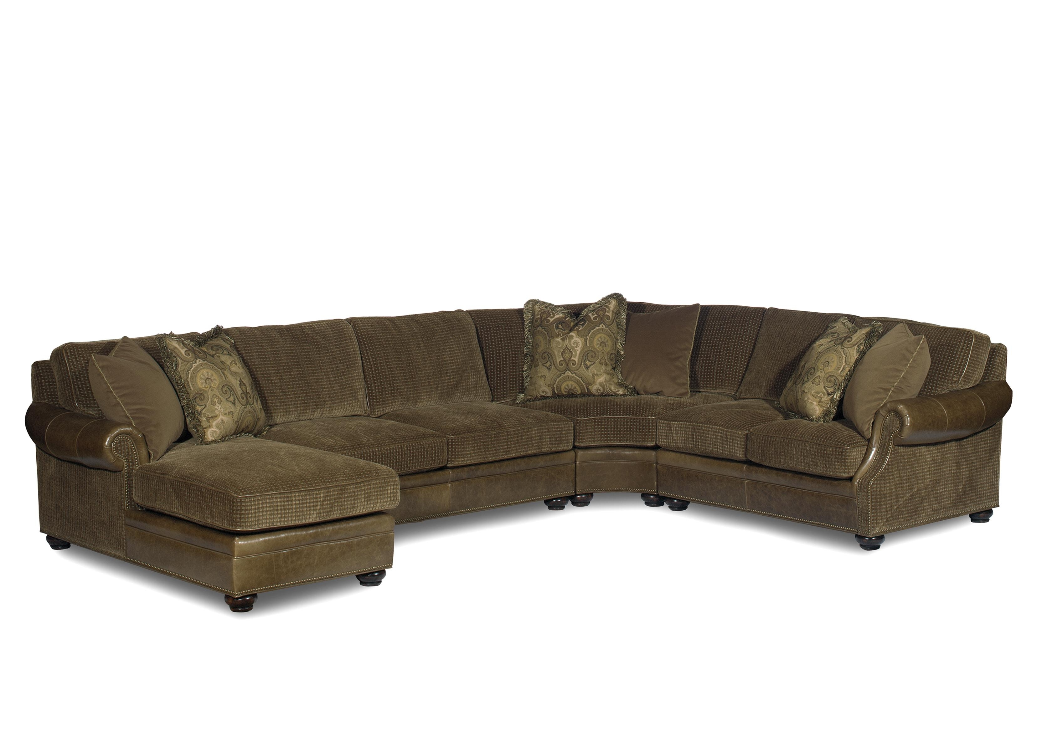 Bradington Young Warner Sectional Sofa With Chaise Lounger – Ahfa With Visalia Ca Sectional Sofas (View 10 of 10)