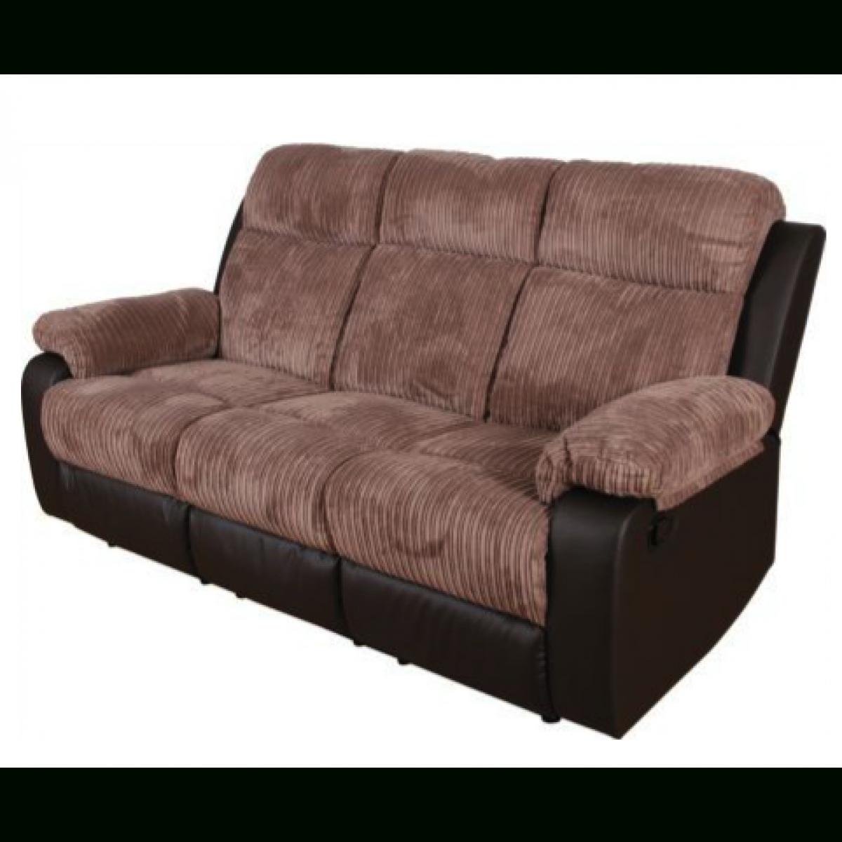 Bradley Large Fabric Recliner Sofa – Natural (View 10 of 10)