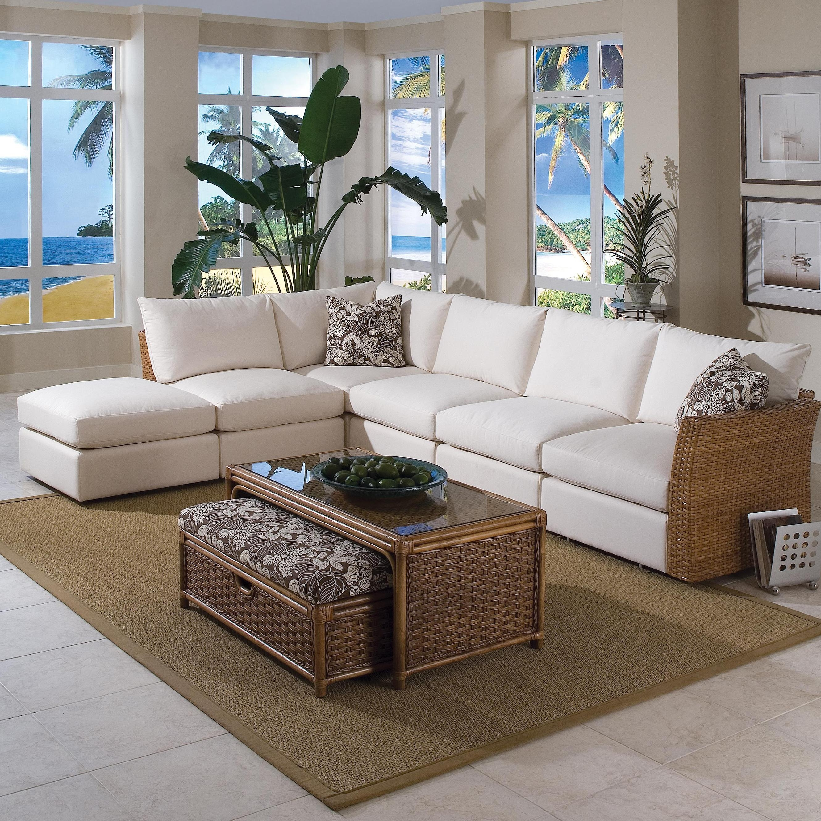 Braxton Culler Grand Water Point Tropical Sectional Sofa With Two With Regard To Johnson City Tn Sectional Sofas (Image 1 of 10)