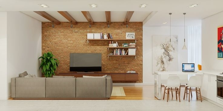 Brick Accent Wall | Decoración Ideas | Pinterest | Brick Accent Regarding Brick Wall Accents (Image 6 of 15)