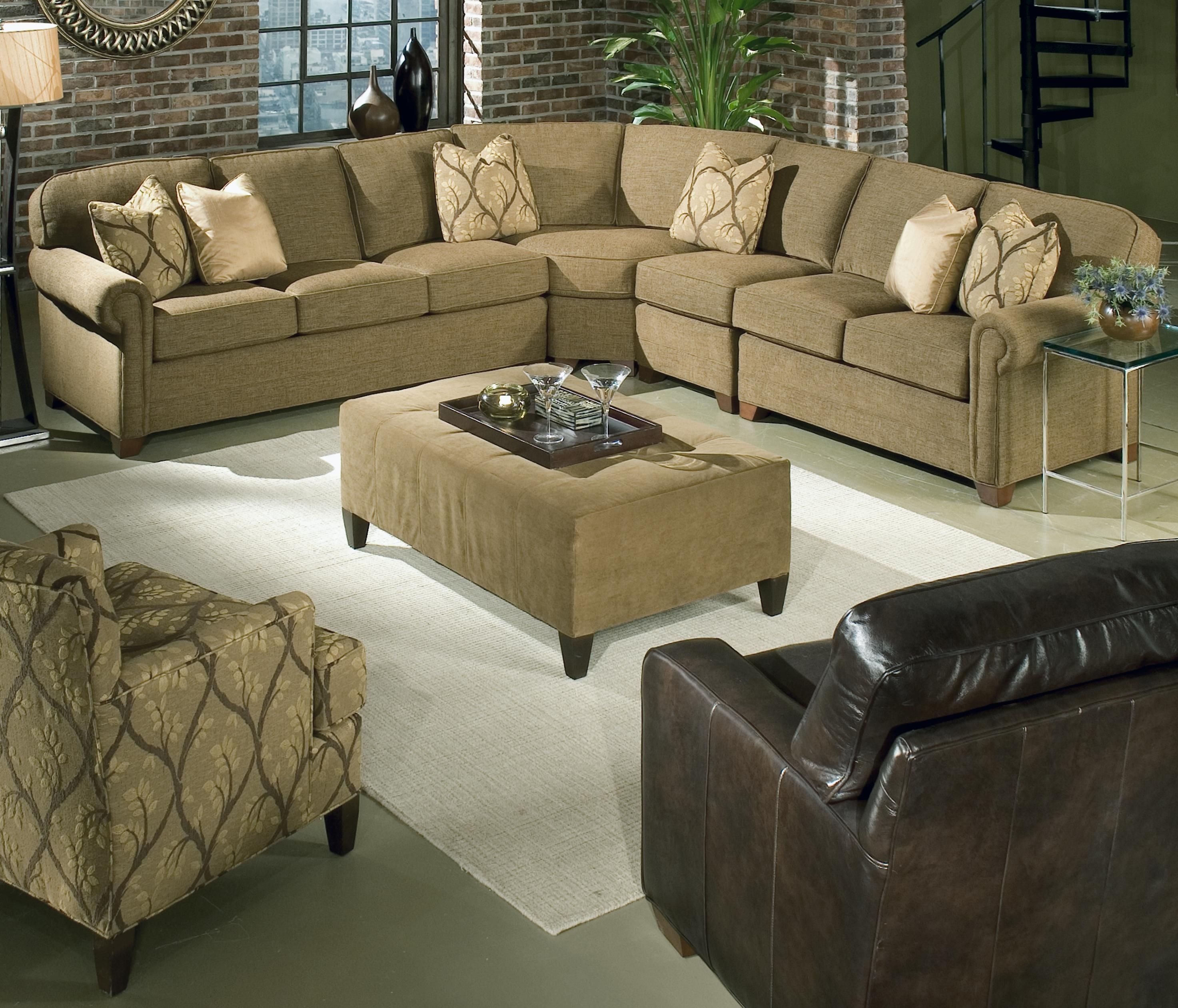 Brighton 4 Piece Sectionalking Hickory | All Things Softball Intended For Salt Lake City Sectional Sofas (View 7 of 10)