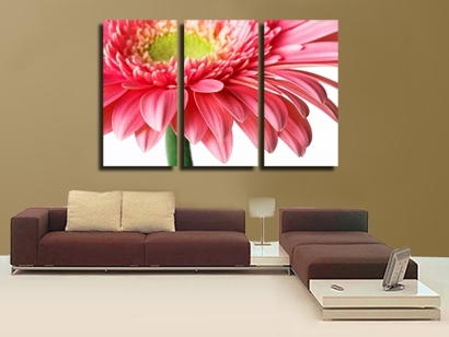 Brilliant 3 Piece Wall Art Painting Classic Flower Rose Canvas In Canvas Wall Art Of Flowers (Image 4 of 15)