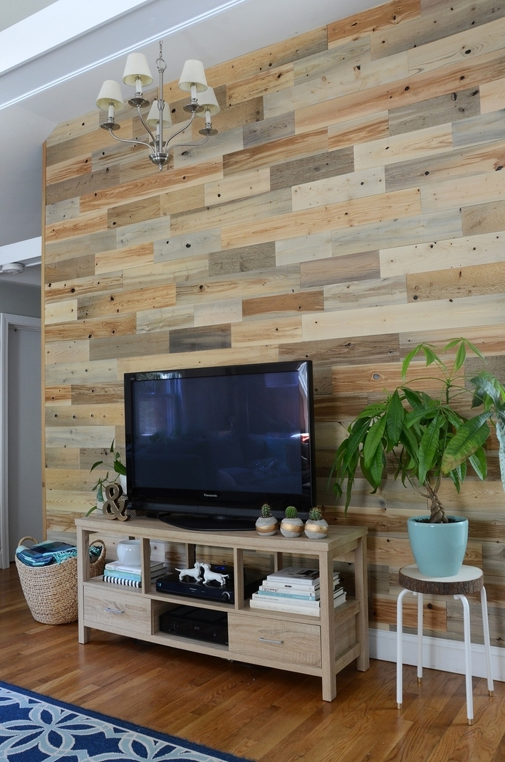 Brilliant Decoration Reclaimed Wood Accent Wall Kits – Wall Art Ideas Regarding Reclaimed Wood Wall Accents (Image 2 of 15)