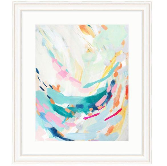 Britt Bass Turner Swoop Abstract Framed Art Print | Acrylic Spray Intended For Bass Framed Art Prints (Image 11 of 15)