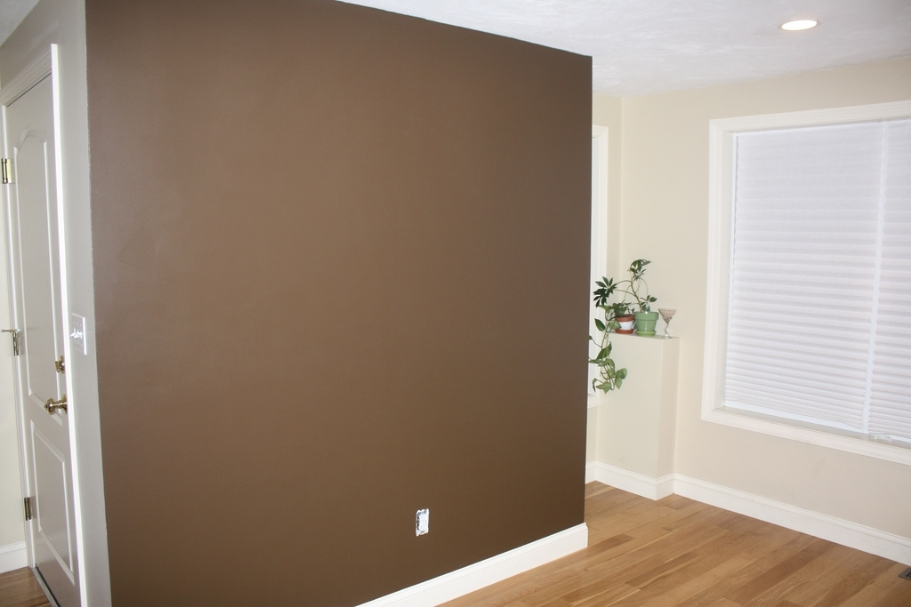 "Brown Accent Wall | My Entire Condo Is ""new Condo Beige (Image 4 of 15)"