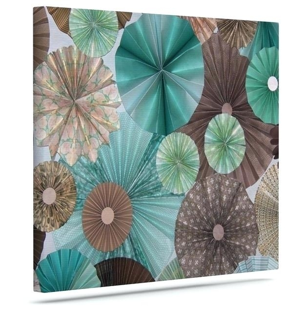 Brown And Teal Wall Art Home Decor Wall Art Teal And Brown Flower Within Blue And Brown Canvas Wall Art (View 13 of 15)