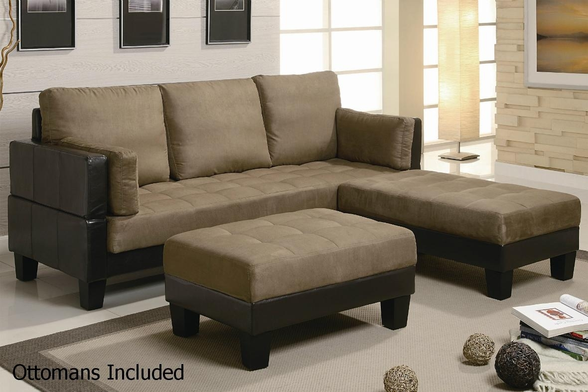 Brown Leather Sectional Sofa And Ottoman – Steal A Sofa Furniture For Sectional Sofas That Turn Into Beds (Image 2 of 10)