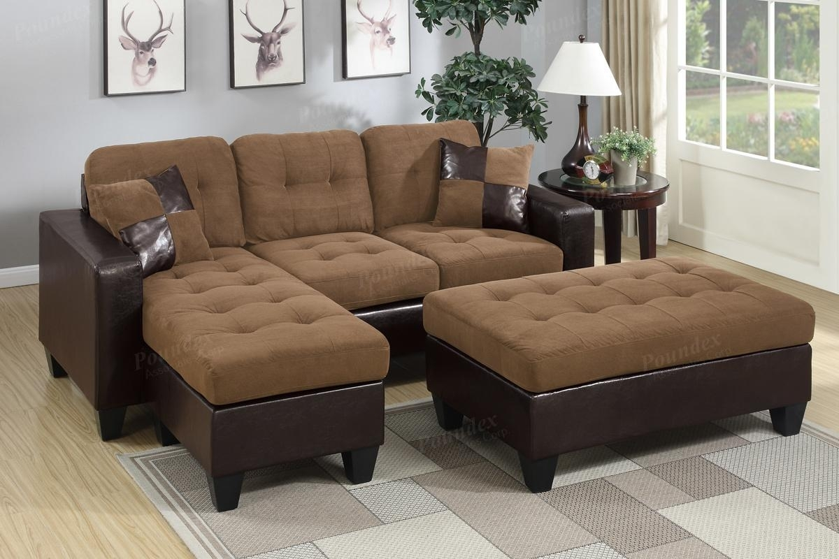 Brown Leather Sectional Sofa And Ottoman – Steal A Sofa Furniture In Leather Sectionals With Ottoman (View 3 of 10)