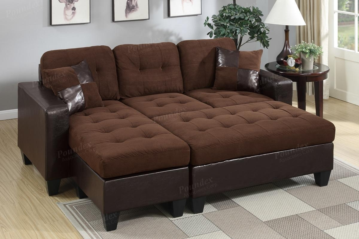 Brown Leather Sectional Sofa And Ottoman – Steal A Sofa Furniture With Regard To Leather Sectionals With Chaise And Ottoman (Image 4 of 10)