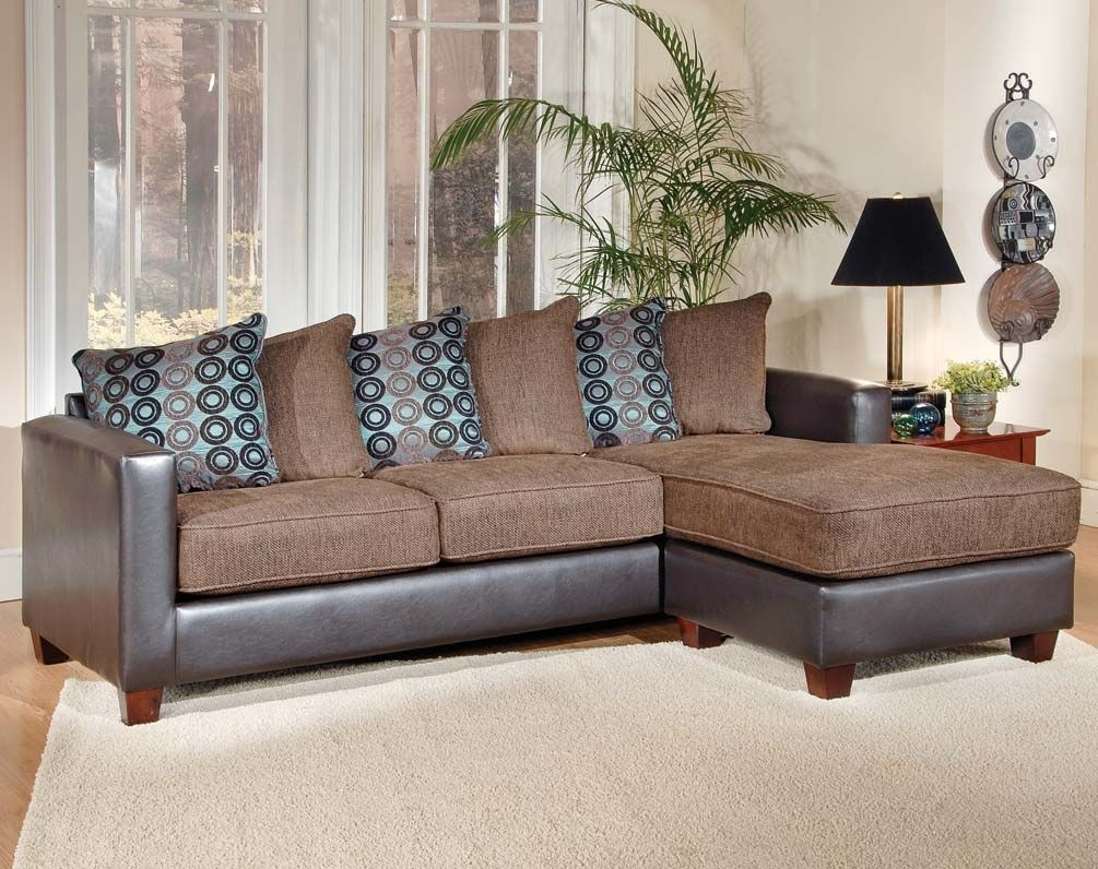 Brown Sectional With Chaise | San Marino Mocha Two Piece Sofa Regarding Sectional Sofas In Savannah Ga (Image 3 of 10)