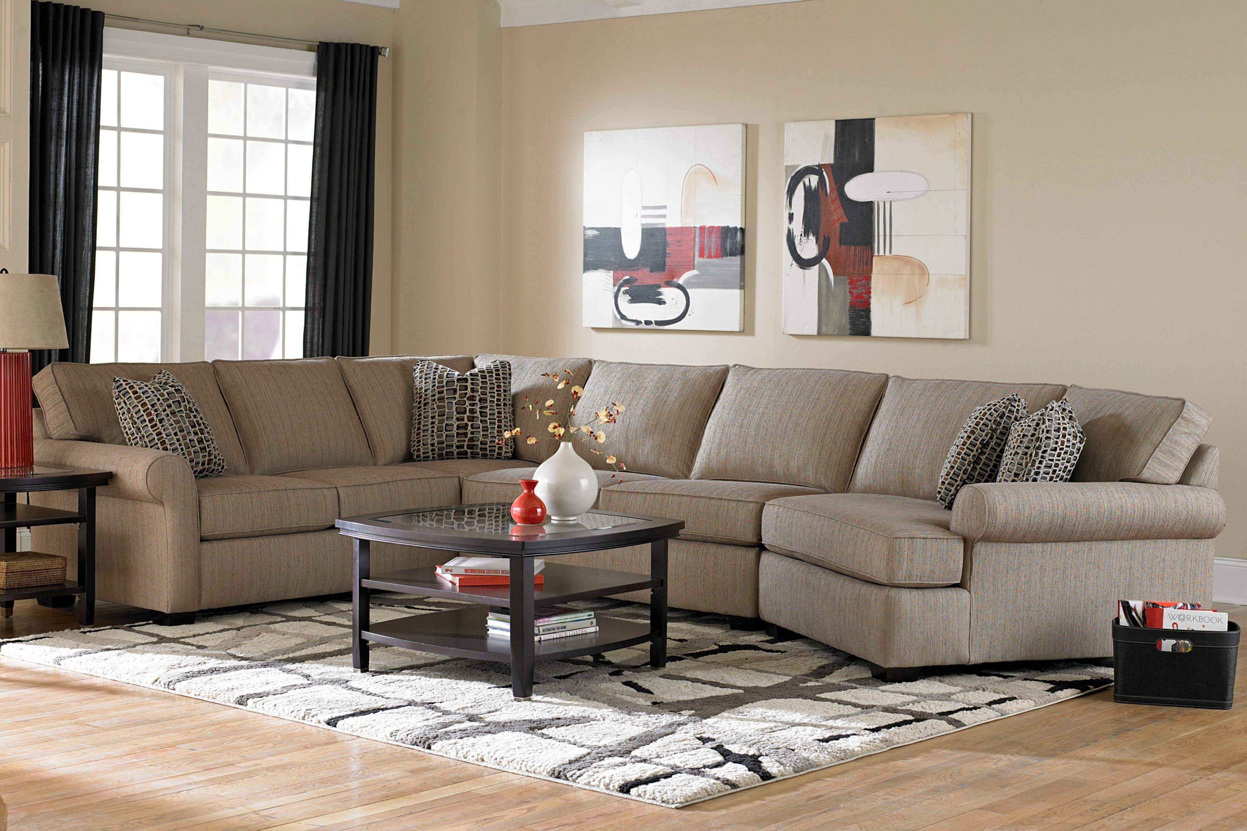 Broyhill Furniture Ethan Transitional Sectional Sofa With Right Inside Sectional Sofas At Broyhill (Image 2 of 10)