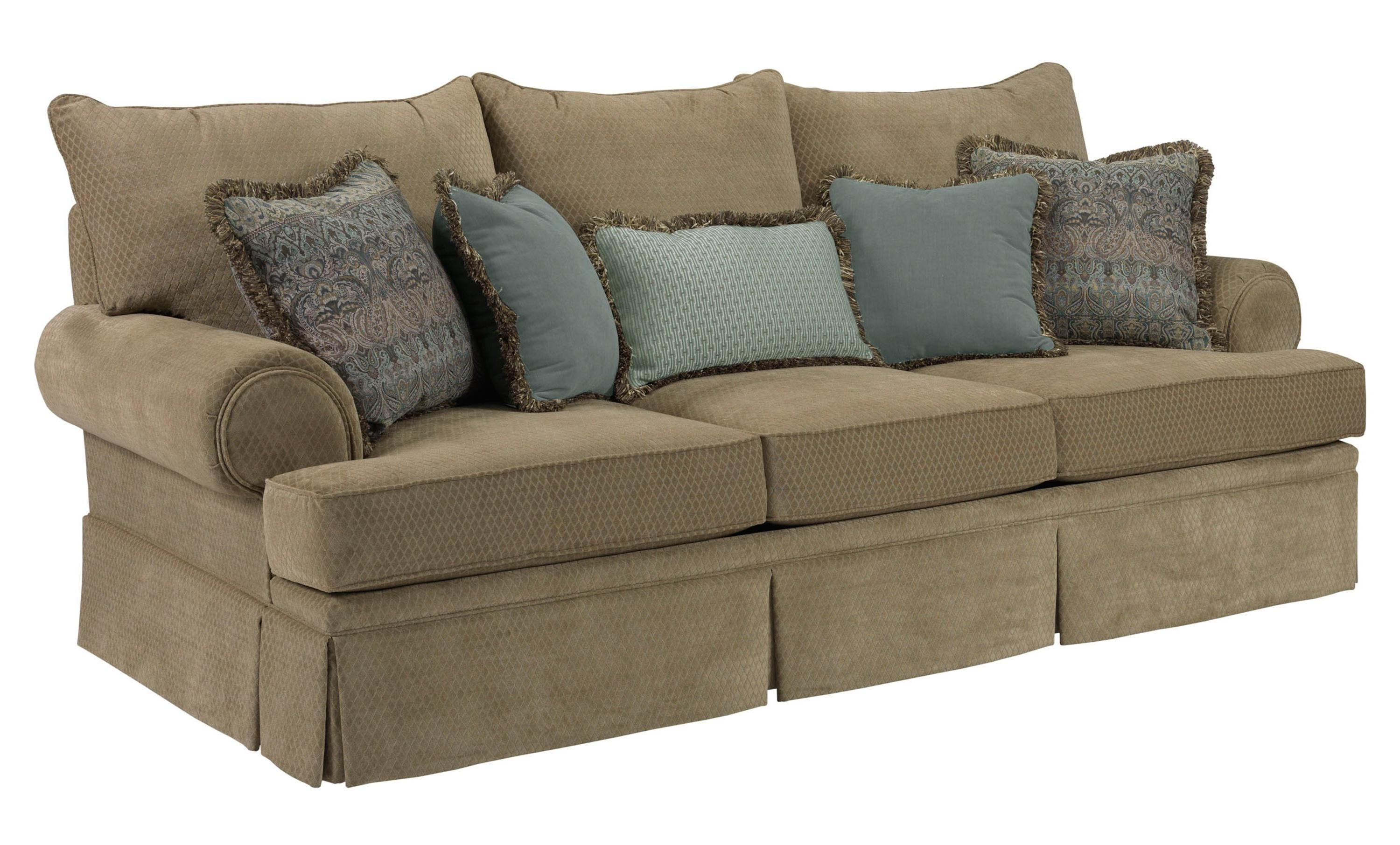 Broyhill Furniture Helena Traditional Skirted Sofa With Rolled Arms In Quincy Il Sectional Sofas (Image 2 of 10)