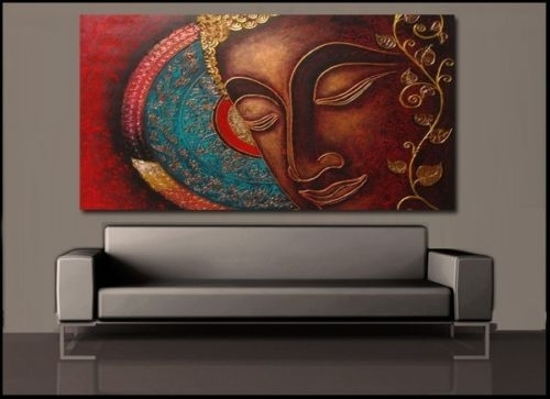Buddha India Canvas Painting Prints Wall Art Home Decor Unframed Within India Canvas Wall Art (Image 2 of 15)