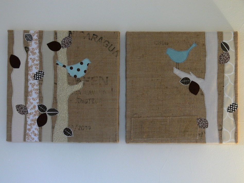 Featured Image of Burlap Fabric Wall Art