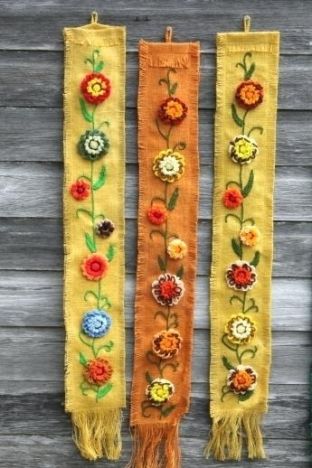 Burlap Wall Hangings – Bazaraurorita Regarding Rustic Fabric Wall Art (Image 3 of 15)