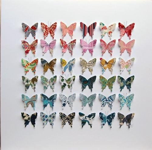 Butterfly Art Framed Liberty Of London Fabric Original Wall Art Regarding Fabric Butterfly Wall Art (View 2 of 15)