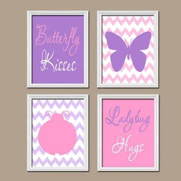 Butterfly Lady Bug Wall Art Canvas Or From Trm Design | Home Intended For Girl Canvas Wall Art (View 10 of 15)