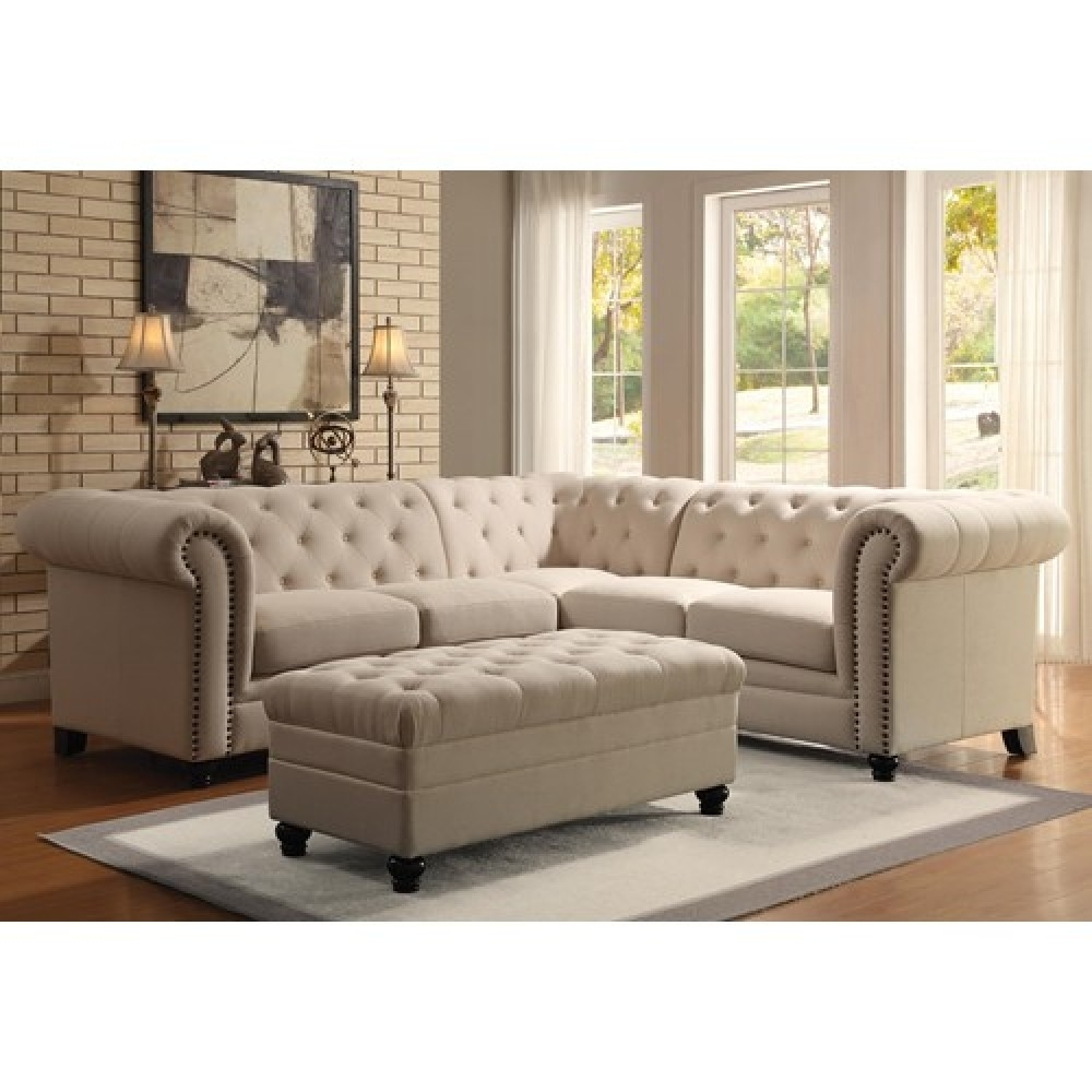 Button Tufted Sectional Sofa Inside Tufted Sectional Sofas (View 2 of 10)