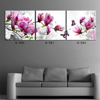Buy 3 Piece Canvas Art Prints For Home Decoration Wall Art Picture In Orchid Canvas Wall Art (Image 7 of 15)