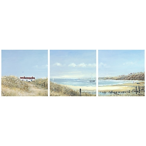 Buy Anthony Waller – Coastal Pathway Trip Print On Canvas, Set Of With John Lewis Canvas Wall Art (Image 1 of 15)