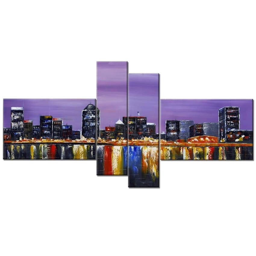 Buy Art Wall Online Walmart Canada Design Montreal Landscape In Montreal Canvas Wall Art (View 12 of 15)