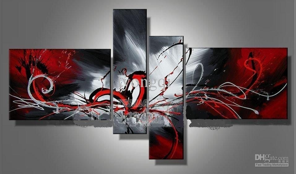 Buy Cheap Paintings For Big Save, Hand Painted Hi Q Modern Wall With Regard To Hand Painted Canvas Wall Art (Image 4 of 15)