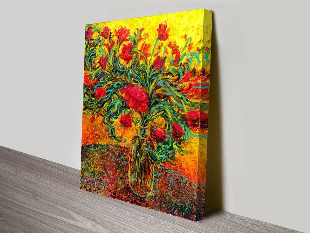 Buy Iris Scott Finger Painting Canvas Prints Sydney & Brisbane Throughout Brisbane Canvas Wall Art (View 15 of 15)