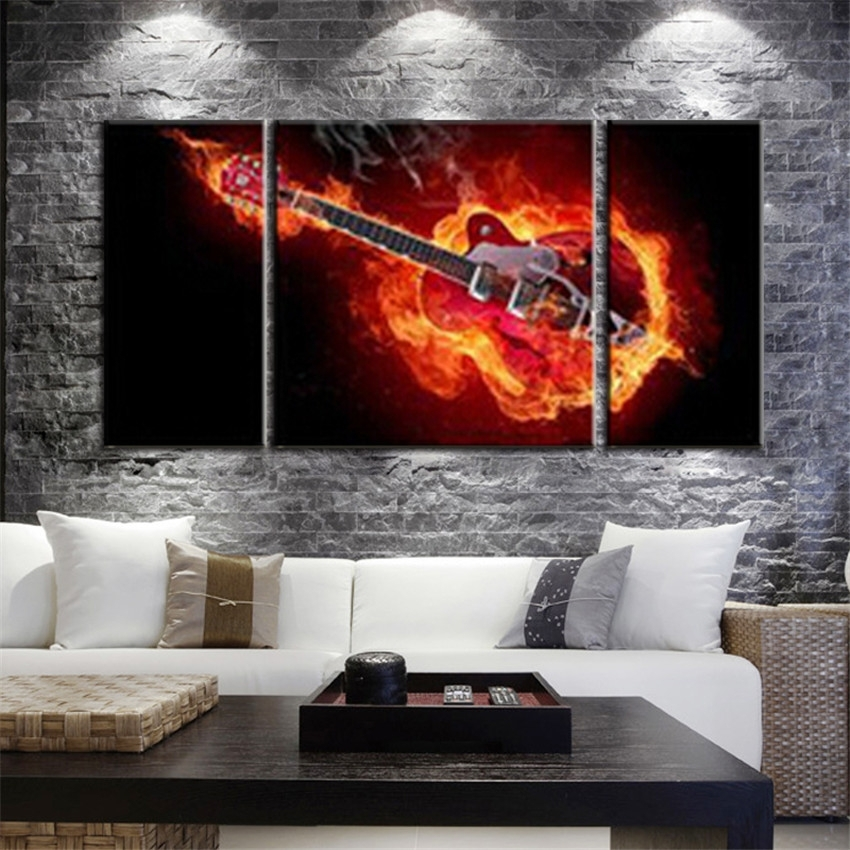 Buy Music Canvas Prints And Get Free Shipping On Aliexpress Throughout Music Canvas Wall Art (Image 4 of 15)