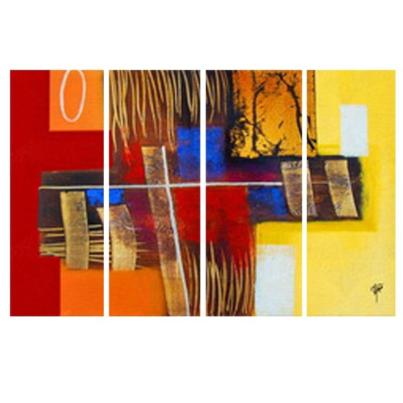 Buy Ray Decor's Multiple Sparkling Abstract Wall Painting 4 Frames Within India Abstract Wall Art (View 11 of 15)