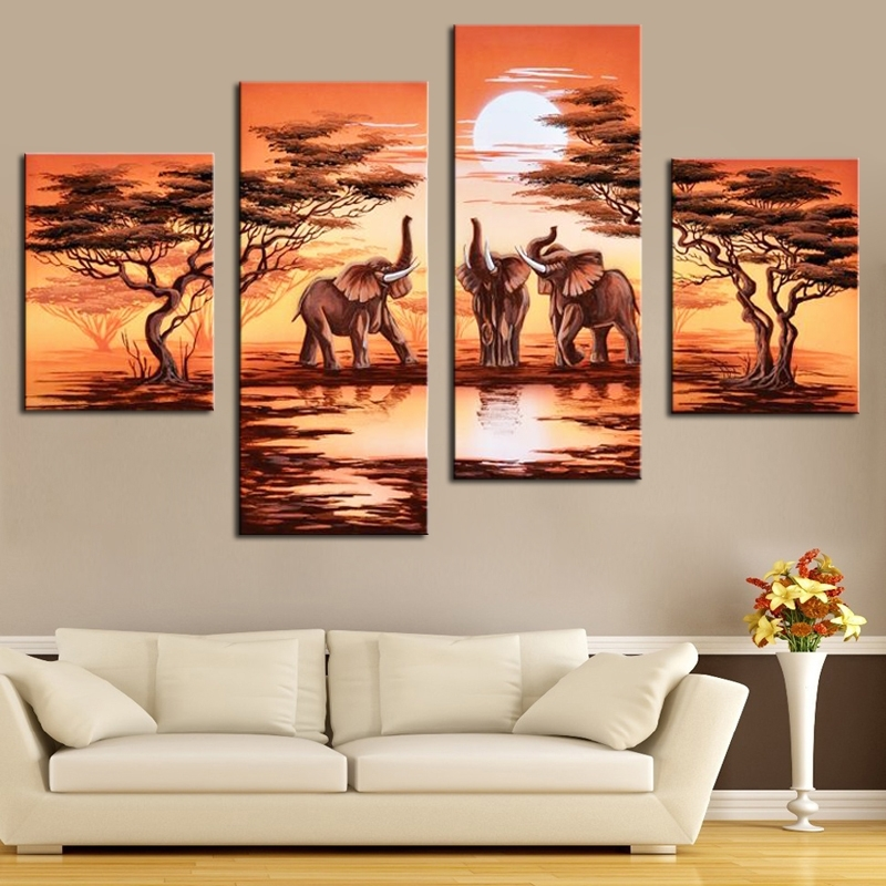 Buy Safari Paintings And Get Free Shipping On Aliexpress For Safari Canvas Wall Art (View 10 of 15)